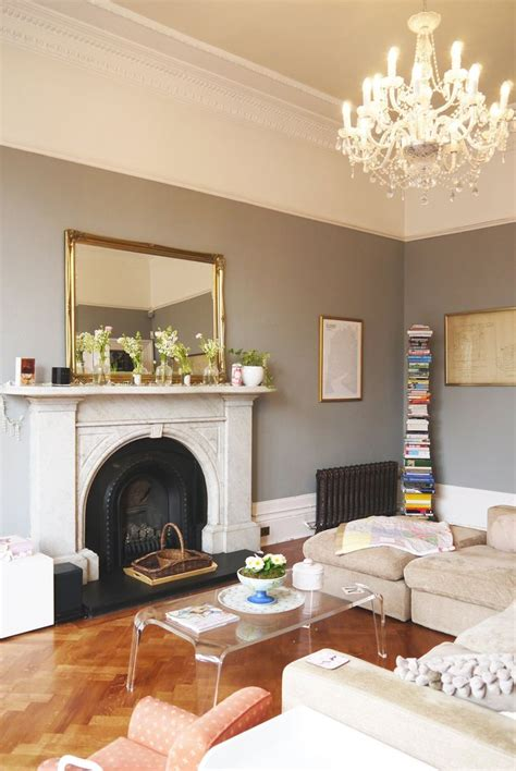 The Living Rooms Glasgow by Farrow Balls Manor House Gray Is The Hue For The Living Room In Lauras Bright And