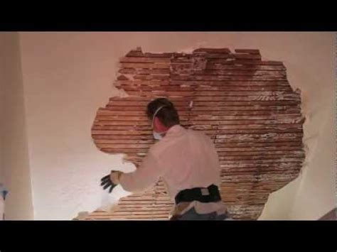 Replacing Knob And Wiring In Plaster Walls by Re Plastering Videolike