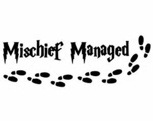 mischief managed decal etsy