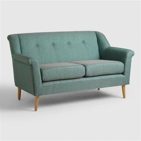 couch and love seat teal kaira love seat world market