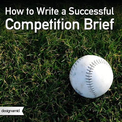 design competition brief how to write a successful competition brief