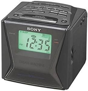 sony icf c143 machine large display am fm clock radio with digital tuner
