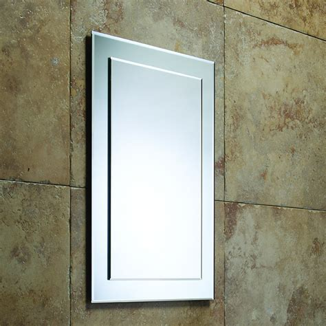 roper designer bevelled bathroom mirror