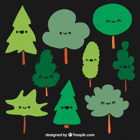 cute trees cute trees vector free download