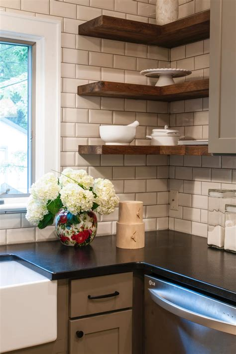 black subway tile kitchen backsplash white subway tile kitchen ifresh design