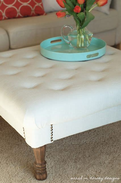 how to make an ottoman from scratch diy tufted ottoman from scratch i saw those legs at home