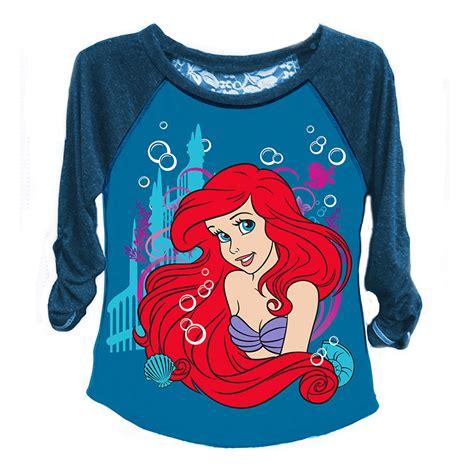 T Shirt Tees Collection Animal World 19 disney the mermaid raglan sleeve 7 16 ariel t