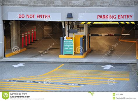 Underground Parking Garage Design entrance parking garage royalty free stock photos image