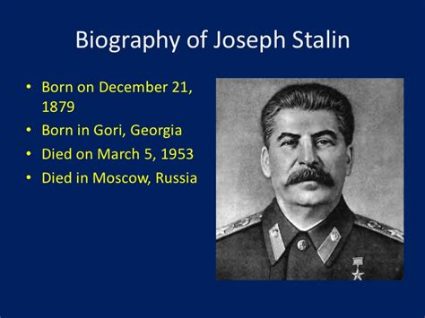what is biography information biography of joseph stalin