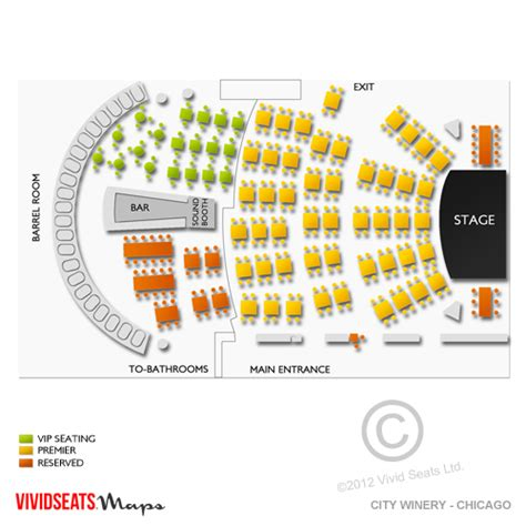 city winery seating chart city winery chicago tickets city winery chicago