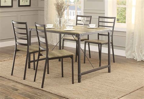 homelegance rumi 5 pack dinette set metal