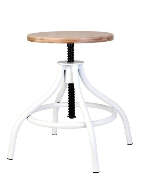 White Wood Stool by White Wood Adjustable Stool Nordic House Nordic House