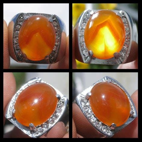 Orange Raflesia Chalcedony 121 cahaya batu mulia akik sulaeman