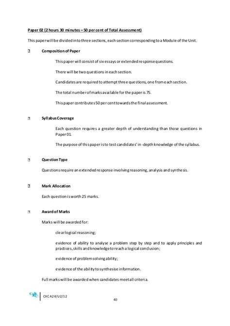 Office Administration And Management Course Outline by Economics Sba Guide Cxc
