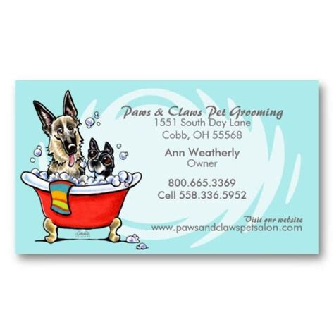 pet grooming business cards templates 21 best pet grooming business cards images on