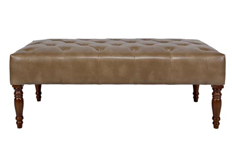 Brown Leather Cocktail Ottoman Tufted Cocktail Brown Leather Ottoman At Gardner White