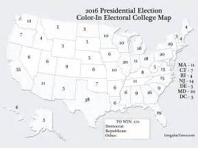 free color in 2016 electoral college map irregular times