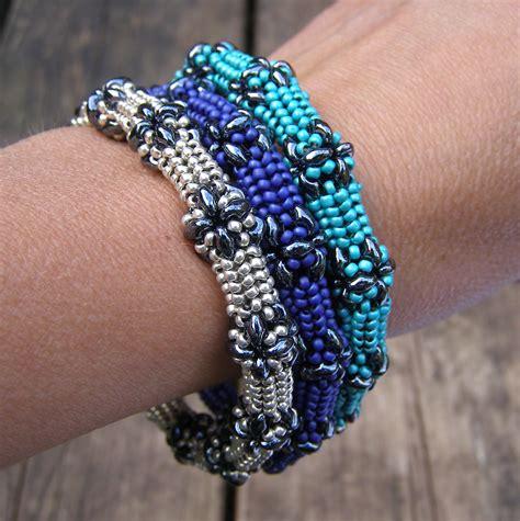 free patterns using superduo beads superduo bangle pattern availablesuperduo bangle patroon