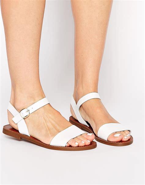 sandals at the smith smith bondi white leather flat