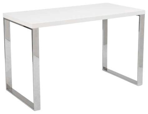 eurostyle dillon office desk w chromed steel legs in
