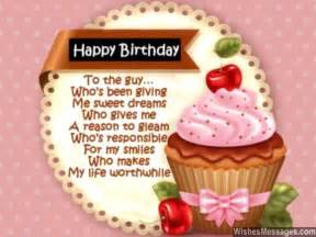 Sweet Happy Birthday Wishes For Him Happy Birthday Poems For Boyfriend Happy Birthday