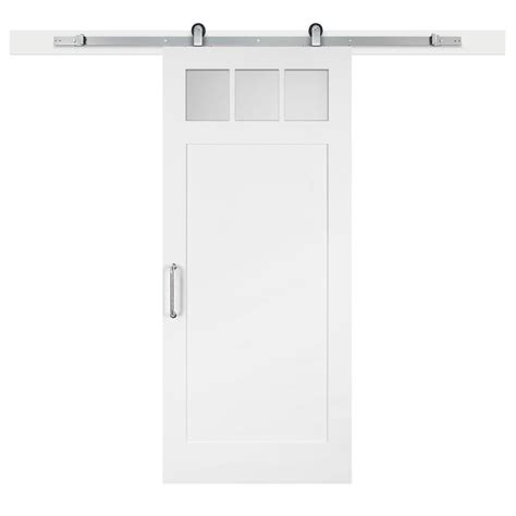 jeff lewis barn doors jeff lewis 36 in x 84 in white collar craftsman clear 3