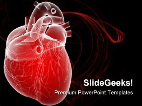 Human Heart Medical Powerpoint Template 0610 Free Cardiac Powerpoint Templates