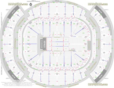 American Airlines Arena Floor Plan | miami american airlines arena detailed seat row
