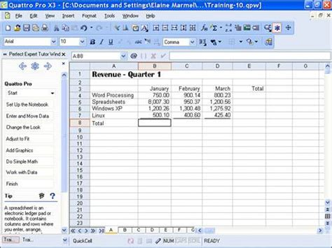 Corel Spreadsheet by Image Gallery Quattro Pro