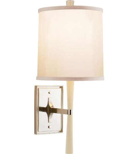 barbara comfort visual comfort barbara barry refined rib sconce in ivory