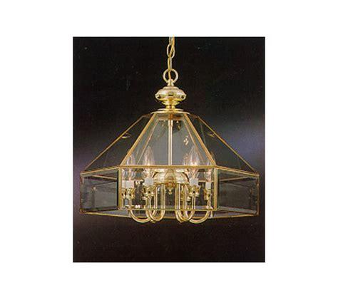 Beveled Glass Chandelier Industries Polished Brass Chandelier W Beveled Glass Qvc
