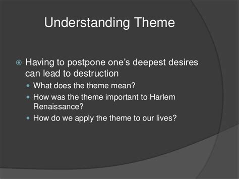 dream themes meaning a dream deferred