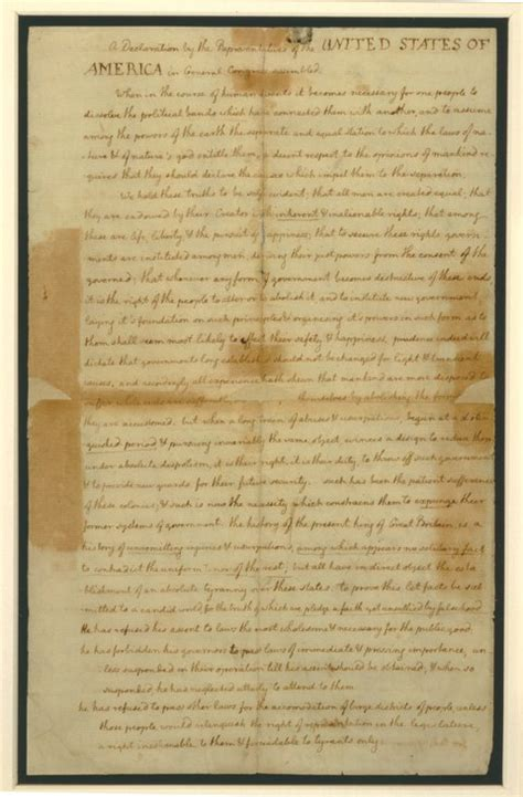 why was the declaration of independence written an unrevised view of the declaration of independence the