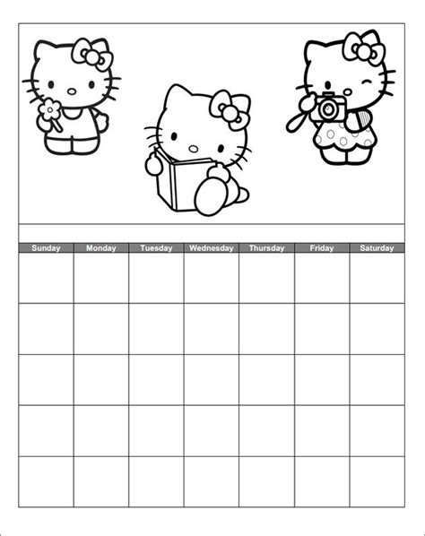 kindergarten calendar template 13 calendar templates for kindergarten