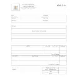 maintenance work order form template maintenance work order form
