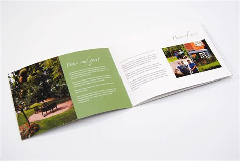 nursing care home brochure design for sibbertoft manor