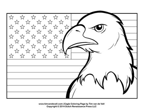 American Flag And Eagle Coloring Page | bald eagle coloring page for kids patriotic coloring pages