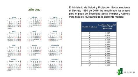 pagos seguridad social 2016 decreto 1990 de 2016 plazos para el pago de seguridad