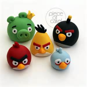 angry birds cake toppers piece cake