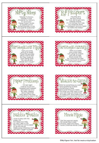 printable elf passport day 3 a nifty name naming your christmas elf my