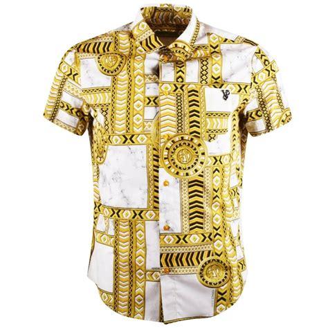 Versace Shirt versace versace white gold sleeve