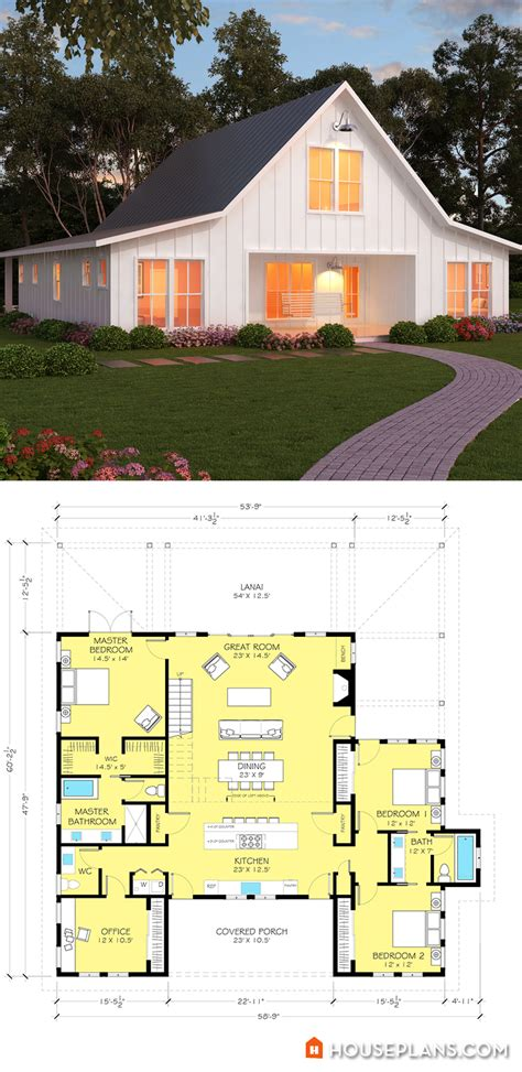 modern farmhouse plans on modern farmhouse