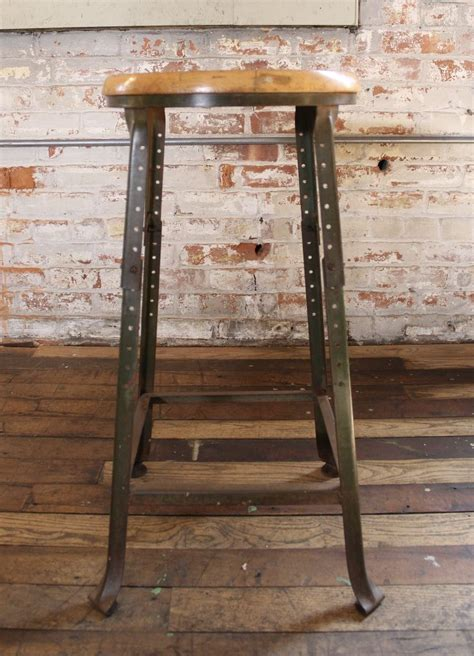 Rustic Backless Bar Stools by Vintage Industrial Backless Bar Stool Wood And Metal