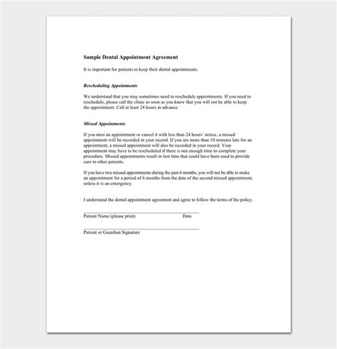 reschedule appointment letter samples formats