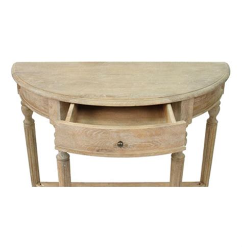 country style console table traditional country style demilune console table