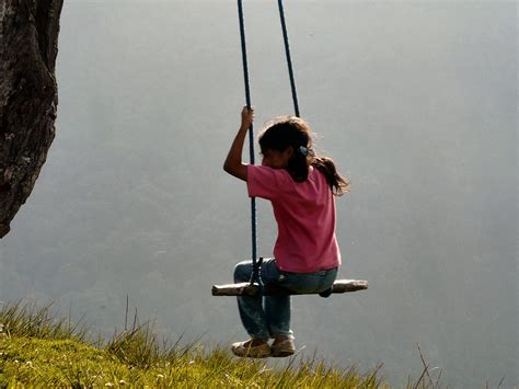 cliff swing riding a swing over a cliff in ecuador is bucket list