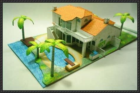 Paper House Craft - new paper craft arizona house free building paper model
