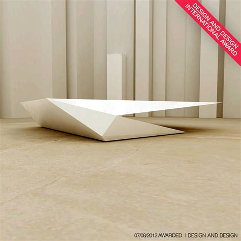 origami coffee table on behance