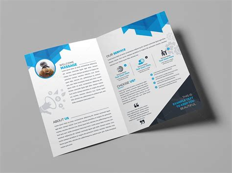 2 Fold Brochure Template Psd by Psd Bifold Brochure Template 000434 Template Catalog