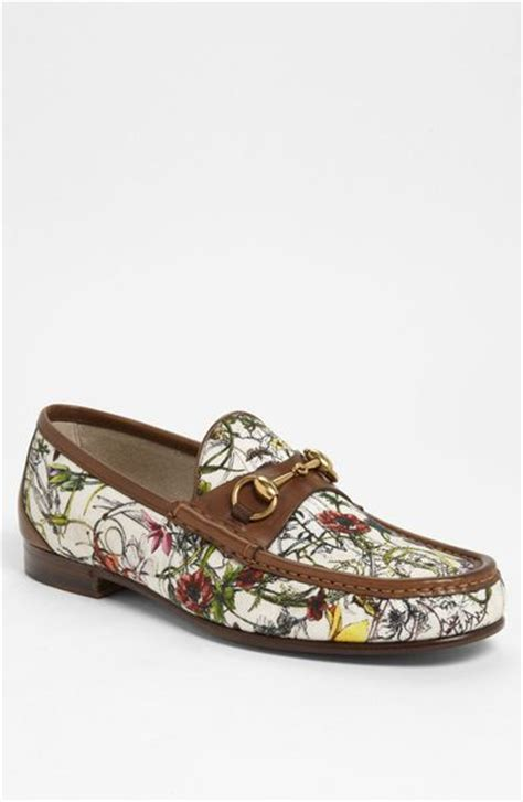 gucci floral loafers gucci roos floral bit loafer in white for white
